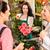florista · mujer · ramo · clientes · mercado - foto stock © candyboxphoto