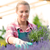 garden center woman with lavender potted flowers stock photo © candyboxphoto