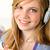 blond · meisje · luisteren · mp3-speler · gelukkig · glimlachend - stockfoto © candyboxphoto