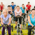 fitness · groupe · de · gens · gymnase · vélo · vélo · homme - photo stock © candyboxphoto