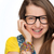 Girl with braces wearing geek glasses isolated stock photo © CandyboxPhoto