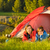 menina · camping · tenda · acampamento · feliz · verão - foto stock © candyboxphoto