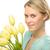 romántica · joven · ramo · frescos · tulipanes · jóvenes - foto stock © candyboxphoto