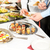 business people take buffet appetizers stock photo © candyboxphoto