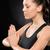 caucasiano · mulher · relaxante · ioga · isolado · estúdio - foto stock © candyboxphoto