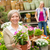 garden centre senior lady hold potted flower stock photo © candyboxphoto