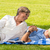elderly couple enjoying relax time in park stock photo © candyboxphoto