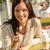 mulher · jovem · sessão · café · alimentação · doce - foto stock © candyboxphoto