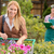 young woman shopping flowers in garden center stock photo © candyboxphoto