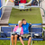 cuddling couple pointing chair lift in sweatsuits stock photo © candyboxphoto