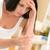 mulher · positivo · teste · de · gravidez · resultar · banheiro · morena - foto stock © candyboxphoto