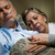 old couple sleeping together man nasal cannula stock photo © candyboxphoto