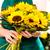 florista · girasoles · ramo · ayudante · amarillo - foto stock © candyboxphoto