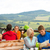 giovani · uomini · seduta · motoscafo · scenico · panorama · primavera - foto d'archivio © candyboxphoto