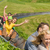 excited couples enjoying alpine coaster luge stock photo © candyboxphoto