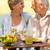 casal · de · idosos · desfrutar · almoço · ao · ar · livre · alegre - foto stock © CandyboxPhoto