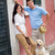 modern couple with dog in the city stock photo © candyboxphoto