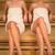 二人の女性 · リラックス · サウナ · 女性 · タオル · 木製 - ストックフォト © CandyboxPhoto