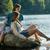 romantischen · Paar · rock · Sitzung · Reise · jungen - stock foto © candyboxphoto