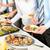 działalności · wyżywienie · ludzi · bufet · żywności - zdjęcia stock © candyboxphoto