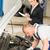 nő · menedzser · autó · javítás · szolgáltatás · garázs - stock fotó © candyboxphoto