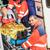 tűzoltók · segít · sebesült · nő · autó · férfiak - stock fotó © candyboxphoto