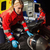 paramedic assisting motorbike driver at night stock photo © candyboxphoto