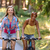 two teenage girls riding their bikes stock photo © candyboxphoto