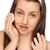 menina · suspensórios · make-up · remoção · branco · cara - foto stock © candyboxphoto