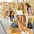 középiskola · könyvtár · boldog · diák · laptop · női - stock fotó © candyboxphoto