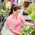 garden centre woman hold white surfinia flower stock photo © candyboxphoto
