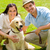 young happy couple with labrador dog stock photo © candyboxphoto