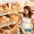 épicerie · jeune · femme · panier · pain · femme - photo stock © CandyboxPhoto