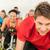 спортзал · инструктор · женщину · улыбаясь · осуществлять · велосипед - Сток-фото © candyboxphoto