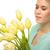 loiro · flores · da · primavera · menina · sensual · verão · rosas - foto stock © candyboxphoto