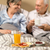 pensioners drinking coffee in the bed stock photo © candyboxphoto