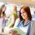 uśmiechnięty · młoda · kobieta · czytania · książki · szkoły · zdjęcie - zdjęcia stock © candyboxphoto