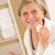 старший · женщину · лице · очистки · лосьон · ванную - Сток-фото © candyboxphoto