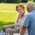 pareja · de · ancianos · jugando · ajedrez · altos · mujer · marido - foto stock © candyboxphoto