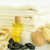 spa body care products and towels close up stock photo © candyboxphoto