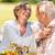 senior · esposa · marido · jantar · ao · ar · livre · feliz - foto stock © CandyboxPhoto