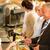 cafetaria · zakenman · salaris · creditcard · kassier · man - stockfoto © candyboxphoto