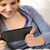friendly teenage girl reading on digital tablet stock photo © candyboxphoto