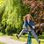 lovaglás · bicikli · nő · megérint · fiú · park - stock fotó © candyboxphoto
