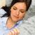 retrato · mulher · jovem · adormecido · sofá · mulher · casa - foto stock © candyboxphoto