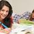 souriant · élèves · apprentissage · maison · heureux · étudier - photo stock © candyboxphoto