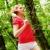 mujer · rojo · ejecutando · camino · corredor - foto stock © cardmaverick2
