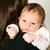 pequeño · nino · beso · madre · blanco · sonrisa - foto stock © carenas1