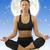 ioga · menina · bonitinho · morena · isolado · branco - foto stock © carlodapino