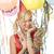 felice · donna · colorato · palloncini · ritratto - foto d'archivio © carlodapino